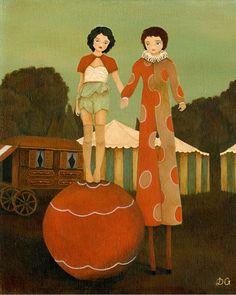 Carnival Circus Children's Art Girls Room Art by thelittlefox, $8.00
