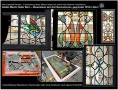 Jugendstilfenster Glas-Blei /Glasmalerei Martin Halter Bern
