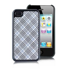 Twinkling  Grid Pattern Case For iPhone 4 (AT
