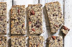 Pecan Chip Chia Bars - The Little Green Spoon