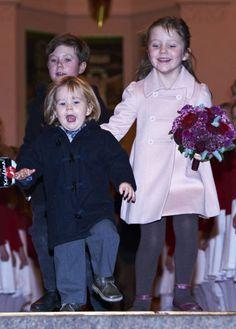 Prince Christian, Prince Vincent and Princess Isabella