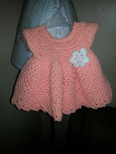 crochet baby dress free pattern from Anna Phelps youtube.com