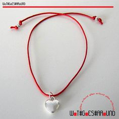 ❤ Wot Goes Round Red String of Fate LOVE Bracelet Silver Volume Heart Charm + 2 Mini Hearts NEW    http://myworld.ebay.co.uk/wot.goes.around/