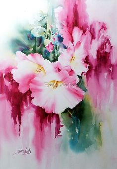 Buy by Bev Wells as a Greeting Card. Watercolor on arches 140 not Artists quality watercolor paints Weekend workshop subject Abstract Flowers, Abstract Watercolor, Watercolor And Ink, Watercolour Painting, Watercolor Flowers, Painting & Drawing, Watercolours, Art Floral, Art Aquarelle