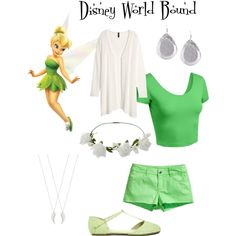 DWB - A comfortable Disney World outfit inspired by Tinkerbell! :)