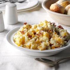 Cheese Smashed Potatoes Recipe -Who doesn't like mashed potatoes? Try this slimmed-down dish with any entree. —Janet Homes, Surprise, Arizona
