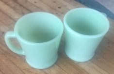 Vintage Fire King Jade Jadeite Mug Set Of 2 Oven Ware Anchor Hocking    eBay
