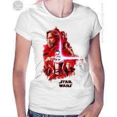 The Last Jedi Womens T-Shirt T Shirts Uk, T Shirts For Women, Star Wars Prints, Star Wars Poster, Star Wars Tshirt, Last Jedi, Stars, Mens Tops, Fashion