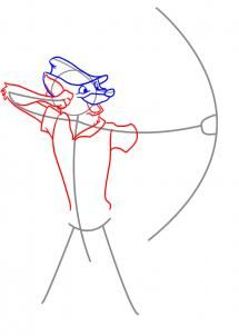 how to draw an assassin hood step by step