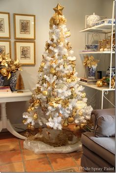 colors and themes for christmas tree images on pinterest christmas tree christmas trees and xmas trees - White And Gold Christmas Decorations