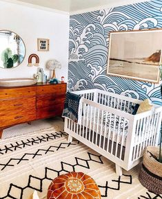 ✔️ Most Popular Boho Baby Room Decor 55 Ocean Nursery, Nursery Room, Nursery Decor, Coastal Nursery, Nursery Ideas, Beach Theme Nursery, Nature Themed Nursery, Nursery Twins, Baby Nursery Themes