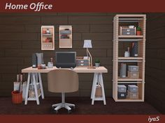Sims 4 CC's - The Best: Home Office by Soloriya