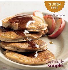 Tastefully Simple Fall-Winter 2014 Gluten Free Apple Cinnamon Pancake Mix