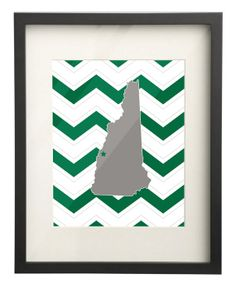 Dartmouth College New Hampshire State Map 8x10 Chevron Print $15.00 Etsy. Use: PIN10 for 10% OFF!