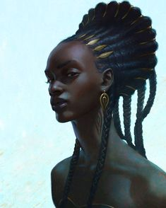 Ideas For Black Art Women Inspiration Faces Black Girl Art, Black Women Art, Art Women, Black Girls, African American Art, African Art, African Drawings, African Tribes, African Style