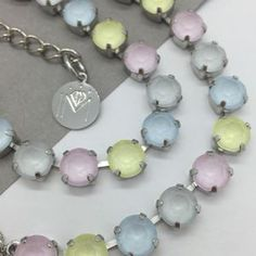 Pastel Necklace Made With Swarovski Crystals - necklaces & pendants
