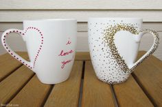 Simple and easy Sharpie Mug Project! Gorgeous DIY craft project using Sharpie paint pens that does not require artistic ability or transferring a design.