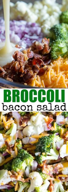 Broccoli Salad with Bacon and Cheese, aka Piggly W…