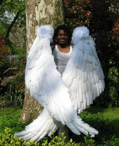 ok that may be a little excessive for a kids halloween costume     But dang they are cool!!  Costume Feather Angel Wings for Adults and Children made by Dragon Wings Costume Accessories