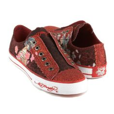 Ed Hardy Lowrise Astroid Sneaker for Women - Red