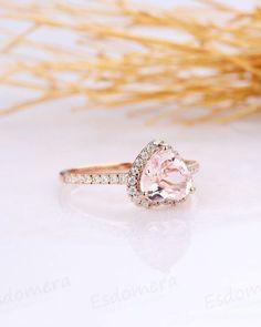 48 Morganite Engagement Rings We Are Obsessed With ❤ morganite engagement rings halo morganite rings #weddingforward #wedding #bride