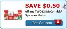NEW Printable for McCormick Spices - 40% OFF at Giant Eagle starting Thursday!