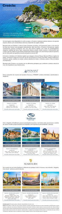 Conheça e se encante com as diferentes paisagens da Croácia Luxury Cruises, Paisajes, Travel