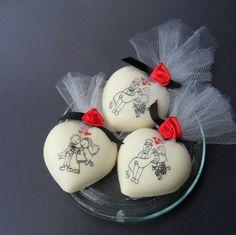 Souvenirs con jabon con forma de corazon para bodas y aniversario