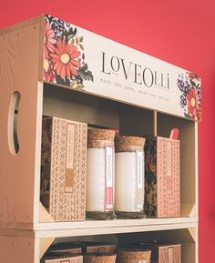 Love Olli Retail Display Unit Food Retail, Retail Displays, Pos, Crates, The Unit, Retail Display Cases, Shipping Crates, Drawers, Barrel