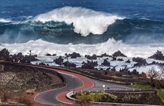 Azores, Portugal - Massive waves pummel Europe.  Coasts of the UK, Portugal and France have been lammed repeatedly over the last week.  Jan. 7, 2014