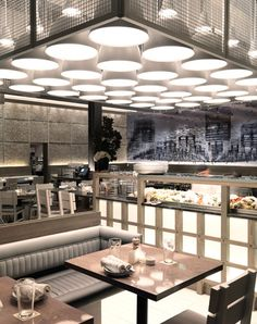 Americas Most Romantic Restaurant Island Creek Oyster Bar, Boston Hotel Restaurant, Restaurant Lighting, Restaurant Design, Restaurant Interiors, Lounge Lighting, Cool Lighting, Interior Lighting, Lighting Design, Commercial Design