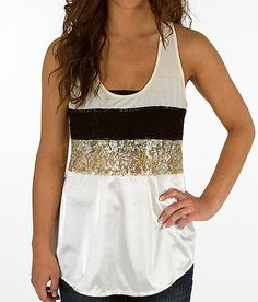 BKE Boutique Pieced Racer Back Tank Top