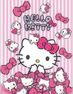 Image in hello kitty 😻🎀💕 collection by HelloKittysBish Hello Kitty Iphone Wallpaper, Hello Kitty Backgrounds, Sanrio Wallpaper, Kawaii Wallpaper, Wallpaper Stickers, Hello Kitty House, Hello Kitty Art, Hello Kitty Birthday, Hello Kitty Clipart
