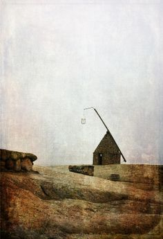 """ARTFINDER: House of Light and Hope by Randi Grace Nilsberg - This place on Tjøme in the county of Vestfold, Norway is called Verdens Ende which means World's End in English. The well known """"basket lighthouse"""" was built..."""