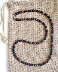 Men's Blue Lapis Jasper Beaded Necklace