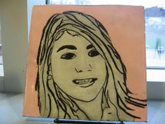 The Calvert Canvas: Adventures in Middle School Art!: Self Portrait Tiles - Ink Transfers on Clay