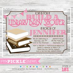 Baby Books Girl  181... Birthday Party by PinkPickleParties, $10.00