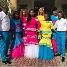 Ideas for traditional african fashion 030 African Wedding Attire, African Attire, African Wear, African Dress, African Outfits, Sepedi Traditional Dresses, Traditional Wedding Attire, African Traditional Wedding, Traditional Cakes