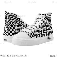 Twisted Checkers Printed Shoes