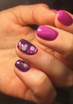 Want some ideas for wedding nail polish designs? This article is a collection of our favorite nail polish designs for your special day. Fancy Nails, Love Nails, My Nails, Gelish Nails, Purple Nail Designs, Nail Polish Designs, Nails Design, Purple Nails, White Nails