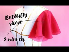 Beautiful batterfly sleeve design making very easy Girls Dresses Sewing, Dress Sewing Patterns, Sewing Clothes, Stylish Blouse Design, Fancy Blouse Designs, Sleeves Designs For Dresses, Sleeve Designs, Sewing Sleeves, Blouse Tutorial