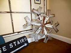 Reclaimed Wood Snowflake | Winter Decor | MyAlteredState