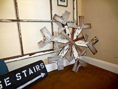 Reclaimed Wood Snowflake   Winter Decor   MyAlteredState