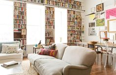 Built in shelves for book storage