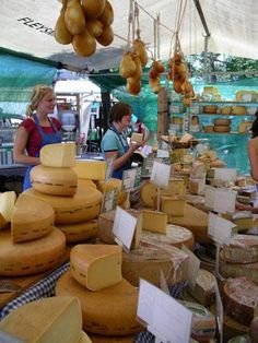 Organic Dutch Cheese at the Noordermarkt Farmers' Market