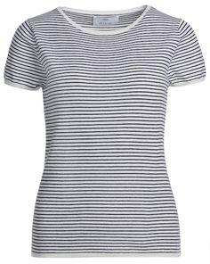 74de8b49e468 Streifen-Shirt mit Knopf-Detail, Damen   Chorkleidung   Pinterest