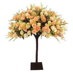 Centrepieces, Event Decor, Wedding Flowers, Peach, Trees, Events, Pretty, Table, Instagram