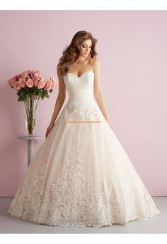 Prinzessin Romantische Traumhafte Brautkleider aus Tüll mit Applikation