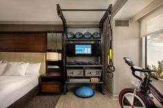 Hilton's bringing the gym to your hotel room Hotel Room Workout, Hotel Gym, Workout Rooms, Meditation Chair, Affordable Hotels, Hilton Hotels, Gym Room, Lead Generation, Guest Room