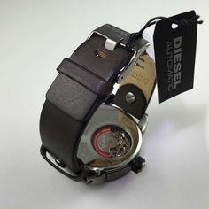 Orologio Diesel DZ7364 Automatico Little Daddy Olive cinture di cuoio 2